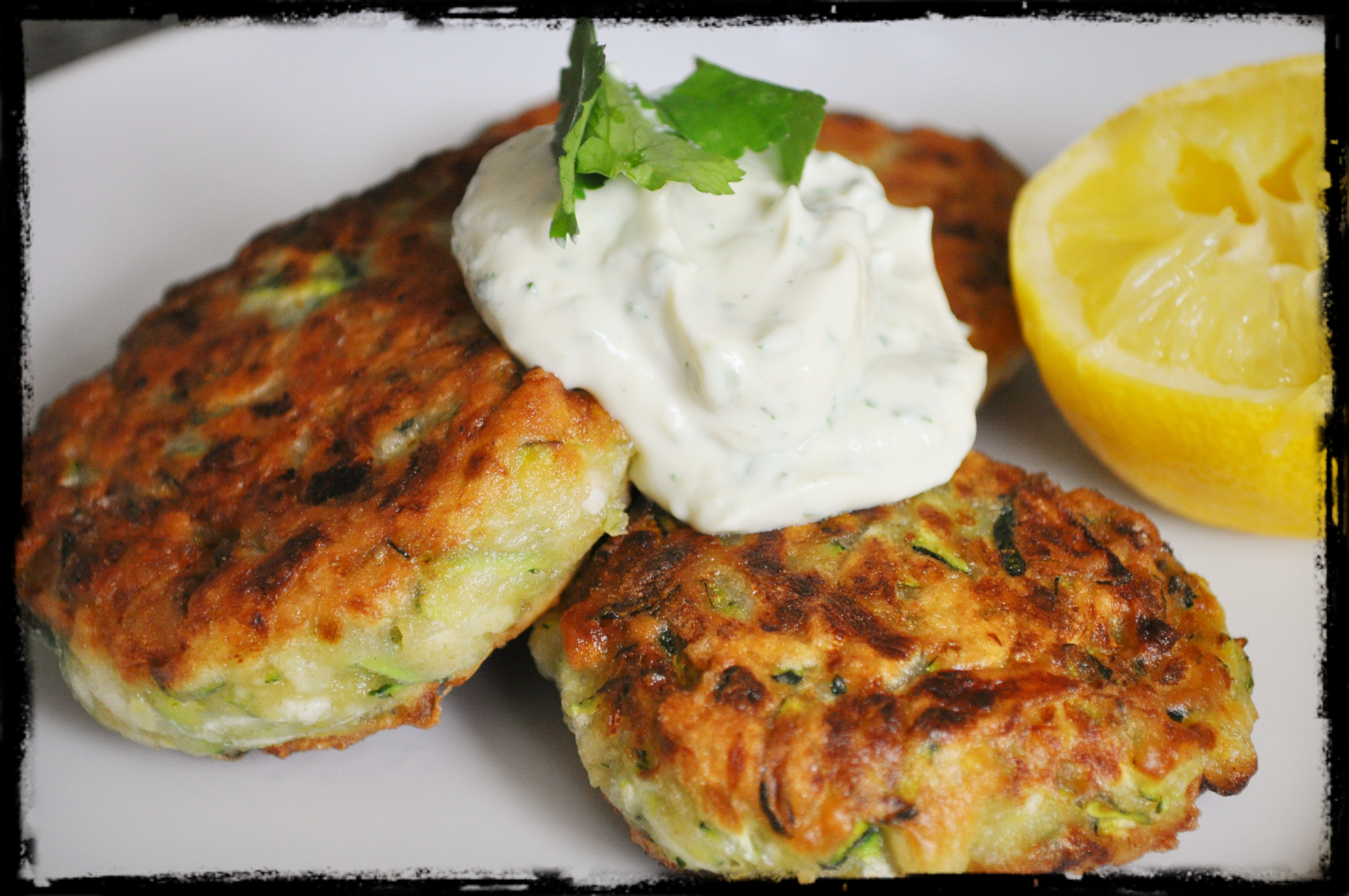 Zucchini Fritters with Vegan Greek-Style 'Yogurt' Dip | An Ode To ...